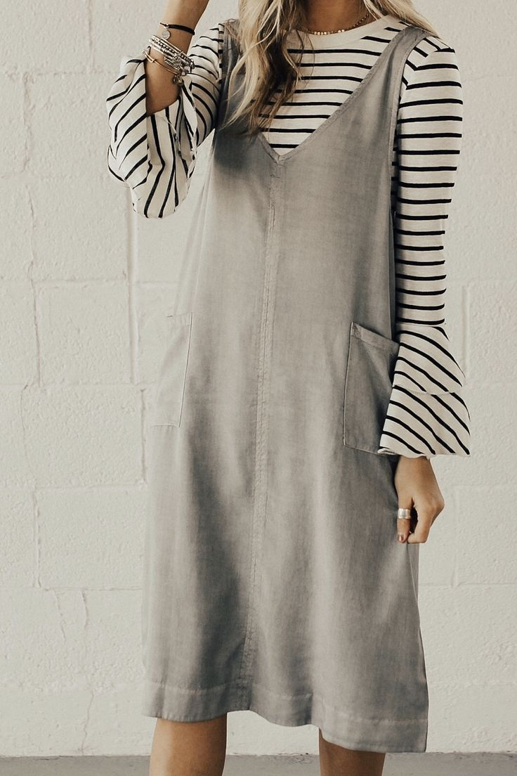 Early access to ROOLEE's new arrivals | Soft Grey Jumpsuit Dress #ROOLEEfave