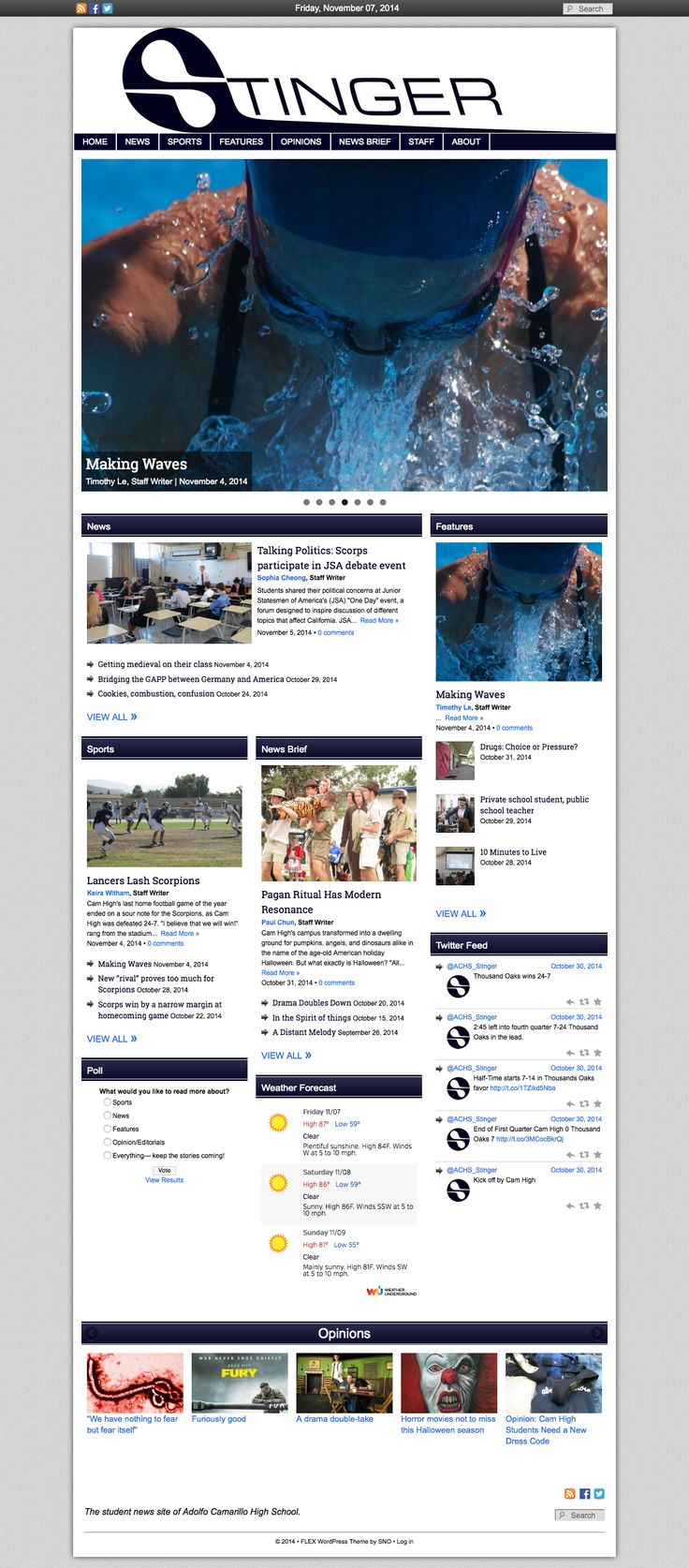 Placing Dynamic Widgets And Strong Photos On The Homepage Creates A Strong,  Dynamic News Site