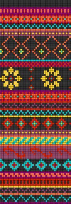 Bolsos Wayuu motivos patrón crochet