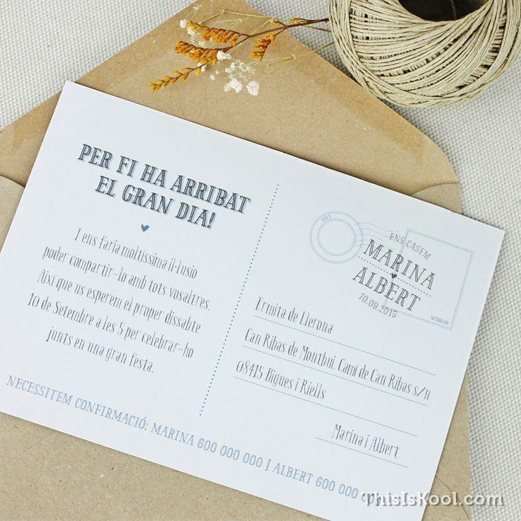"Invitación de boda - ""POSTAL"""