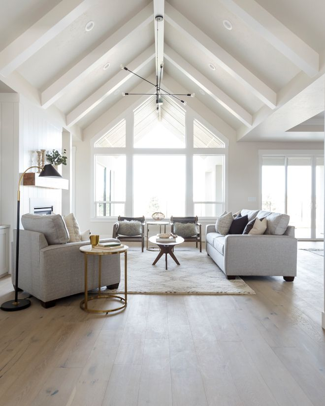 Ceiling Beams Paint Grade Box Beams In Sherwin Williams Snowbound Sw 7004 In Semi Gloss Ceiling Ceiling Beams Living Room Beams Living Room White Beams Ceiling
