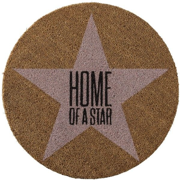 Bloomingville 'Home of a Star' Doormat ($65) ❤ liked on Polyvore featuring home, outdoors, outdoor decor, bloomingville, coir doormat and coir door mat