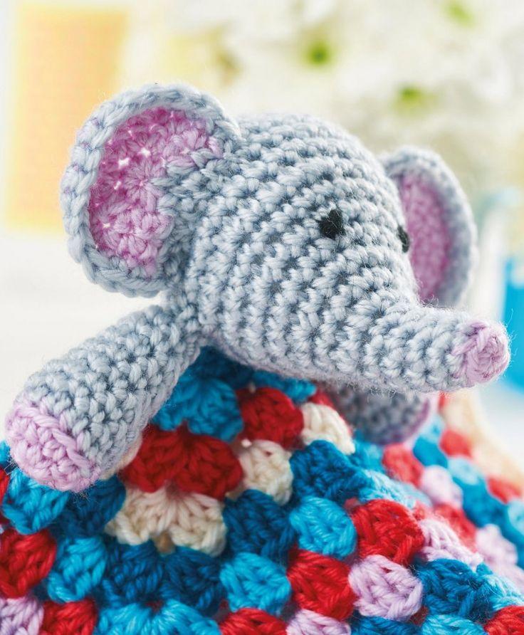 FREE CROCHET PATTERN: Baby elephant blanket
