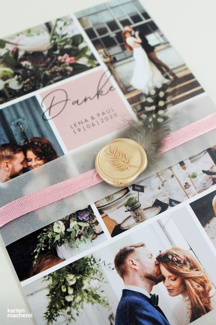 Wir Zeigen Euch Wie Ihr Eure Dankeskarten Fur Die Hochzeit Ganz Einfach Mit Ein Paar Details Verzieren Und Somit Dankeskarte Basteln Dankeskarten Danke Karte