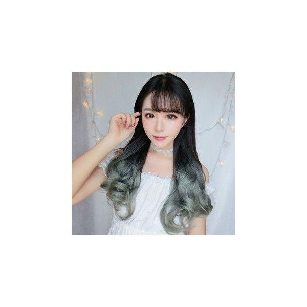 Gradient Hair Fringe ($22) ❤ liked on Polyvore featuring accessories, hair accessories, wig, pink hair accessories and gold hair accessories