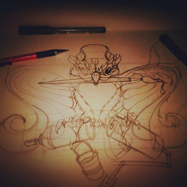 Sketchin!!! #bird #webstagram #instafollow #drawing #sketch #sketchoftheday #graffkodesign #graffiti #hungarygraffiti #pencil #fucktheworld