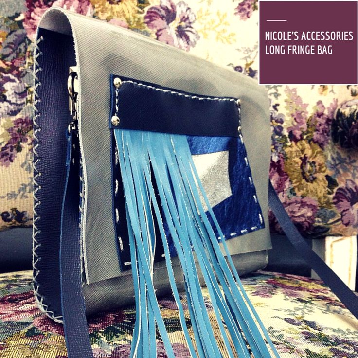 Leather bag, displaying oversize fringes! #statement #leather #bag #IT #accessories