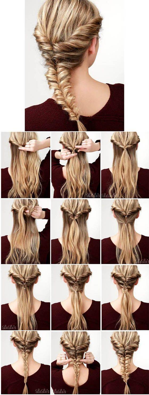 Penteados com tranças – cabelo curto, longo, escolhido, simples #easy #frisure …   – Schritt für Schritt-Anleitungen Frisuren
