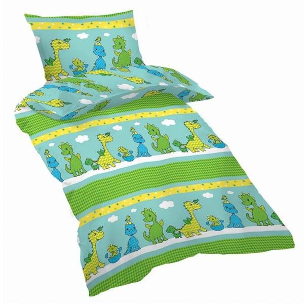 Fall in love with our happy dino cot duvet cover set. Made from 100% luxury cotton, this cot duvet cover set is cosy and durable for a great night's sleep.