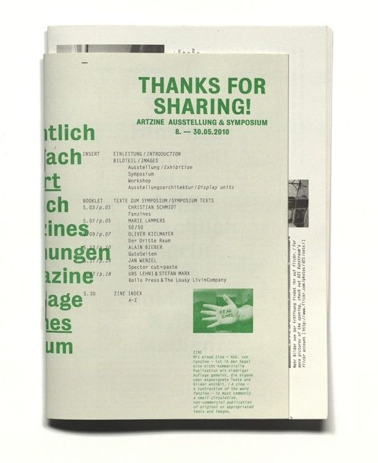 manystuff.org — Graphic Design daily selection » Blog Archive » THANKS FOR SHARING! catalogue