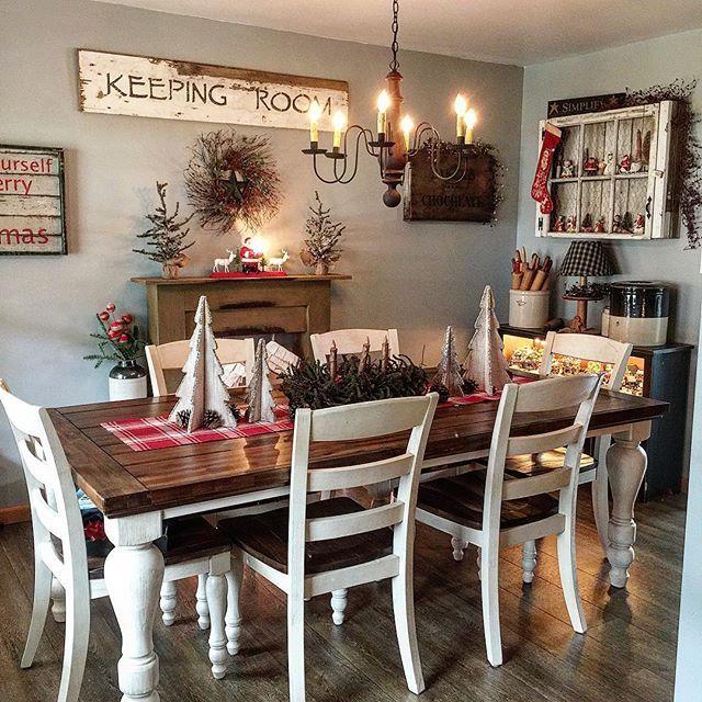 Dining Room Decor Rustic, Marsilona Dining Room Table