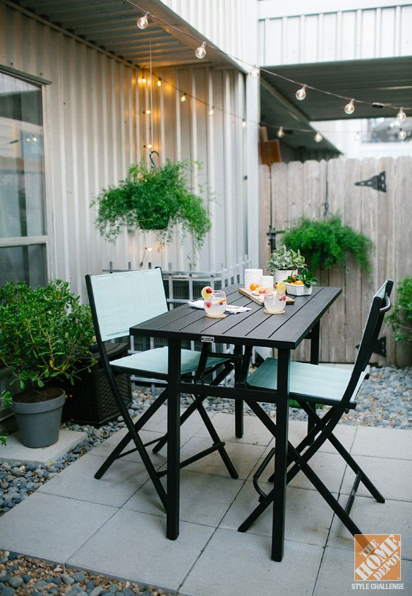 Urban Backyard Decorating Ideas - The Home Depot | Small ... on Home Depot Patio Ideas id=17559