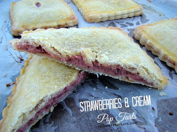 Strawberry & Cream Pop Tarts -- From Gate to Plate