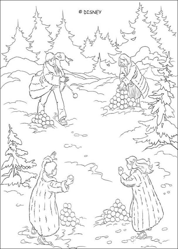 Snowball Battle In Narnia Coloring Page Print This Out Or Color Online With Our New Machine