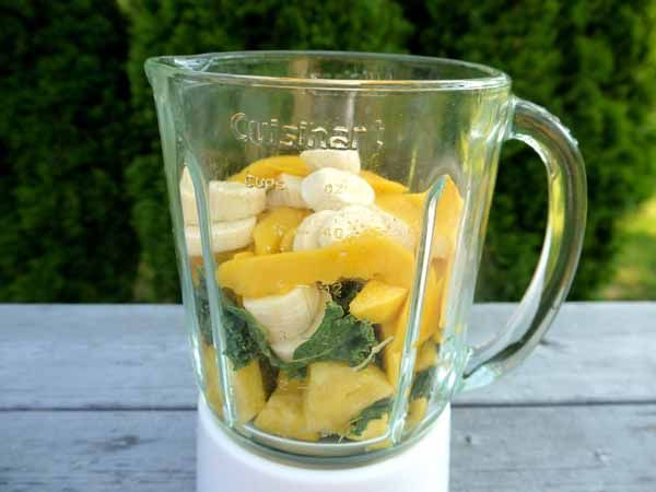 kale smoothie with pineapple, mango and banana...  definitely worth a try