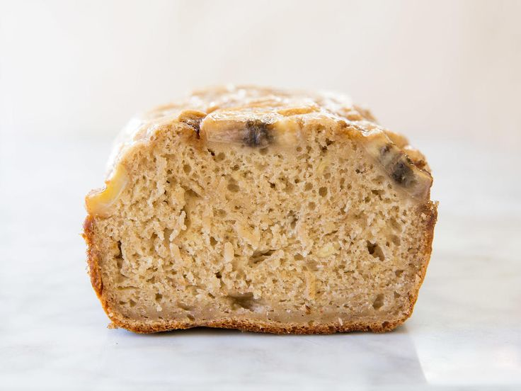 This 3-Ingredient Banana Bread Recipe Is Almost Too Easy | When you're baking a loaf of homemade banana bread, you no longer have to fuss with flour, baking powder, eggs, etc.—all of that stuff's included in just-add-water pancake mix. Okay, it might seem a little weird at first glance, but it's totally possible to make bread with pancake batter. (Uh, hello, it's darn cheap, too.) This budget-friendly banana bread is perfectly tailored for those of us trying to save a few bucks (a.k.a.