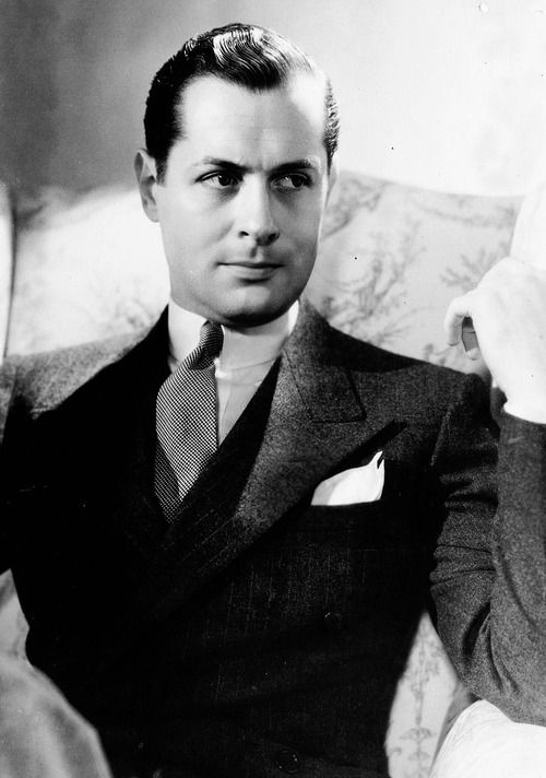 "Robert Montgomery, actor on stage, screen and radio. Played likable parts, though the occasional reversal could catch viewers unawares. After WWII he began to prefer work behind the camera -- wearing director shoes. (His ""No More Ladies"" just happens to be playing on TCM as I write.)"