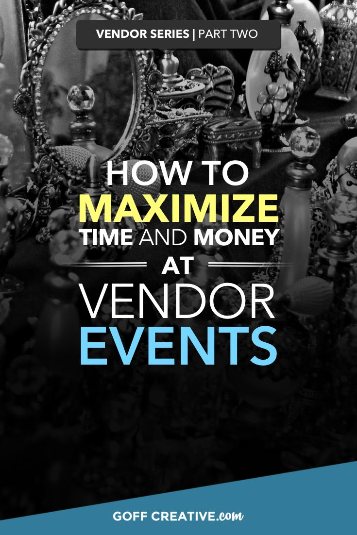 If I'm not mistaken, you're the kind of person who values your time and  money.  After plenty of potentially wasteful events, I found other strategies to  not only bring the event more visitors, but to fully utilize however many  hours I was standing at a booth.  In this second post of our 4-part Vendor Series, I'll guide you through 7  event-boosting methods to nurture every opportunity to amplify profits and  time spent at your vendor events.