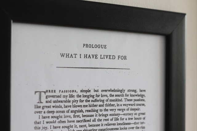 photocopy a fav inspirational book quote or prologue and frame it for a teacher, grad, etc...