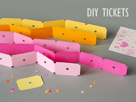 how to make tickets out of paper