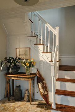bottom of staircase leads to two rooms | Narrow Staircase Design Ideas, Pictures, Remodel, and Decor - page 6