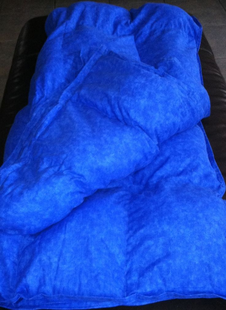 how to make a weighted blanket without sewing