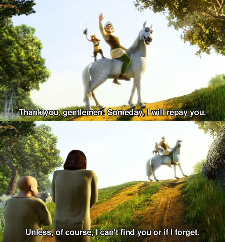 Dude, so relatable! Shrek is me, I am Shrek!