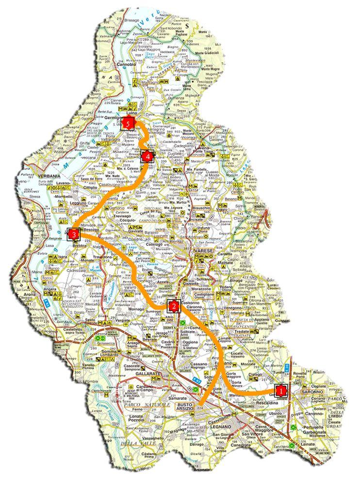 ecco un itinerario tipo... here a plan of a trip