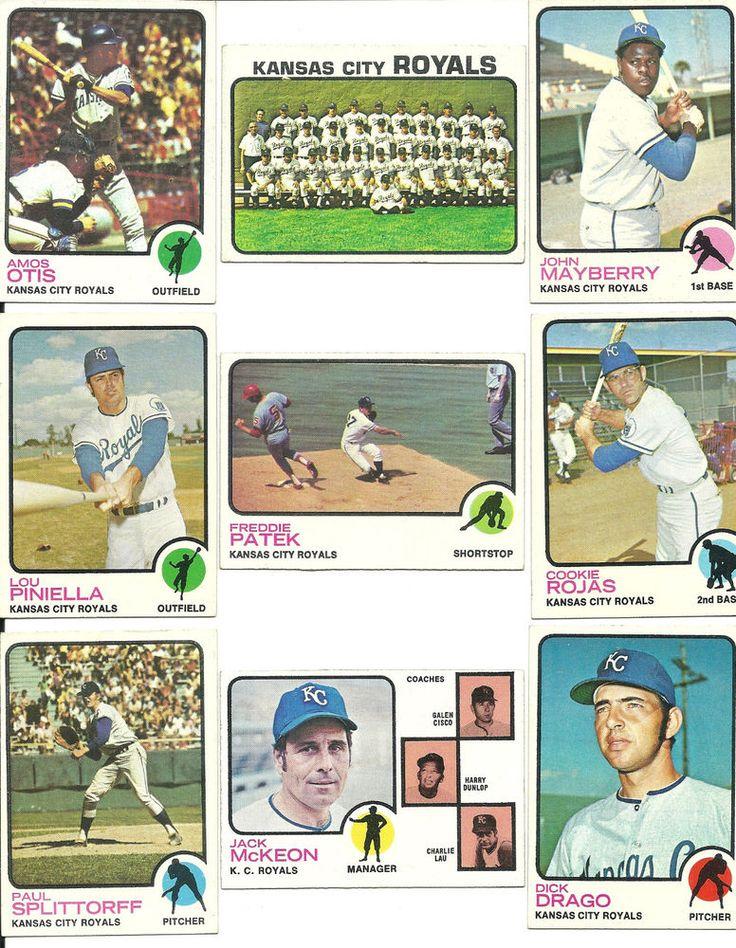 Vintage 1973 Topps baseball ROYALS 26 cards partial team