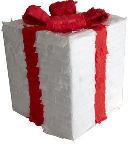 Festive christmas gift box pinata from www.pinataspinatas.com