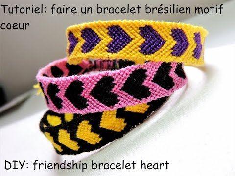la moitié meilleur endroit haute couture Tutoriel: faire un bracelet brésilien motif coeur (DIY ...