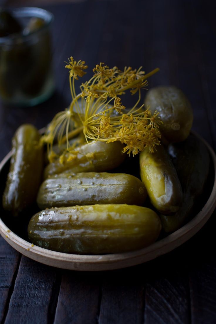 Sharply sour and infused with the intense flavor of dill and garlic, these sour pickles are made the traditional way, by allowing cucumbers to ferment in a saltwater brine.