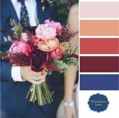 What We're Working On: Marsala, Navy + Coral Fall Wedding