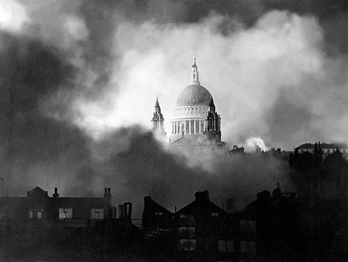St Paul's Cathedral in the early hours of December 30th 1940.
