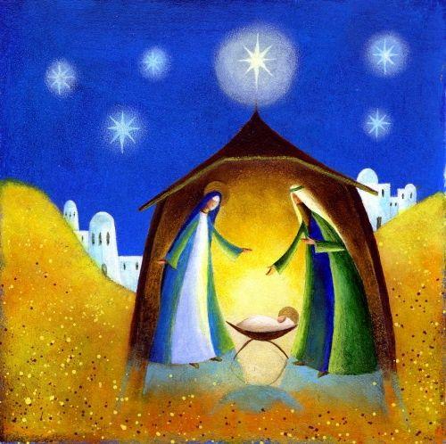Holy Family Illustration by Jan Pashley