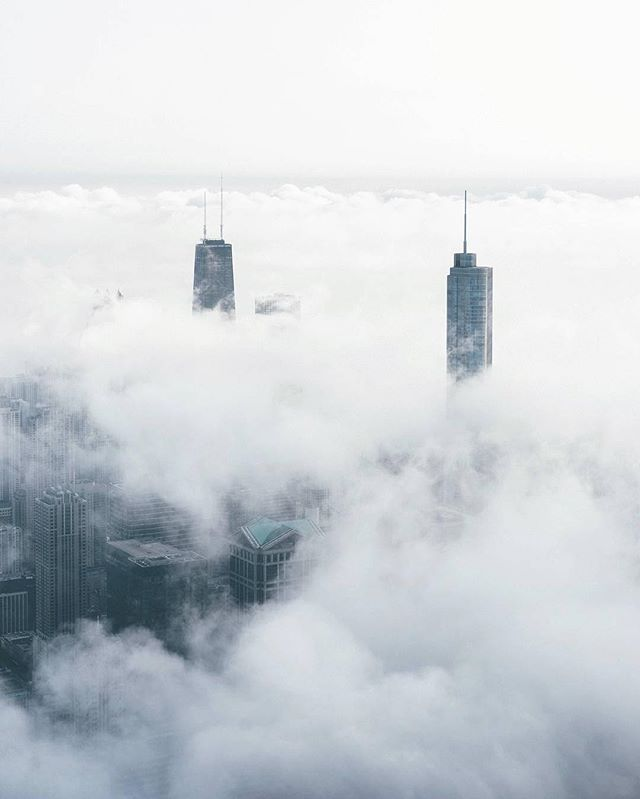 In one building I lived on the 44th floor ... it would be sunny where I was and foggy or snowing 5 floors down ...