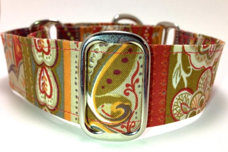 Late Autumn Paisley Medium Martingale Dog Collar - Custom Size. $17.00, via Etsy.