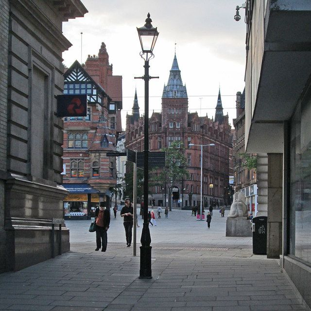 Exchange Walk in Nottingham, England