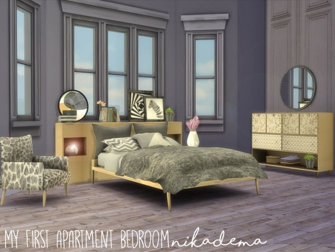 My First Apartment Bedroom at Nikadema Designs • Sims 4 Updates