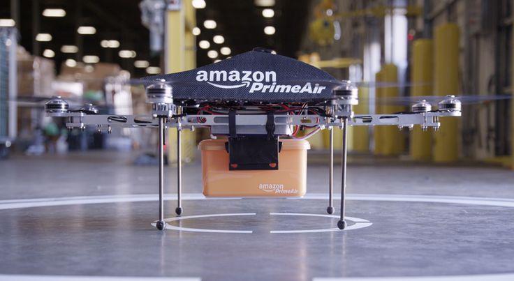amazon prime air drone system delivers goods in 30 minutes - designboom | architecture & design magazine