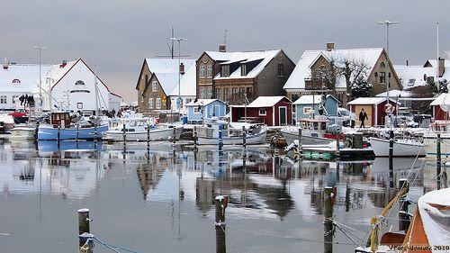 Winter Råå harbour