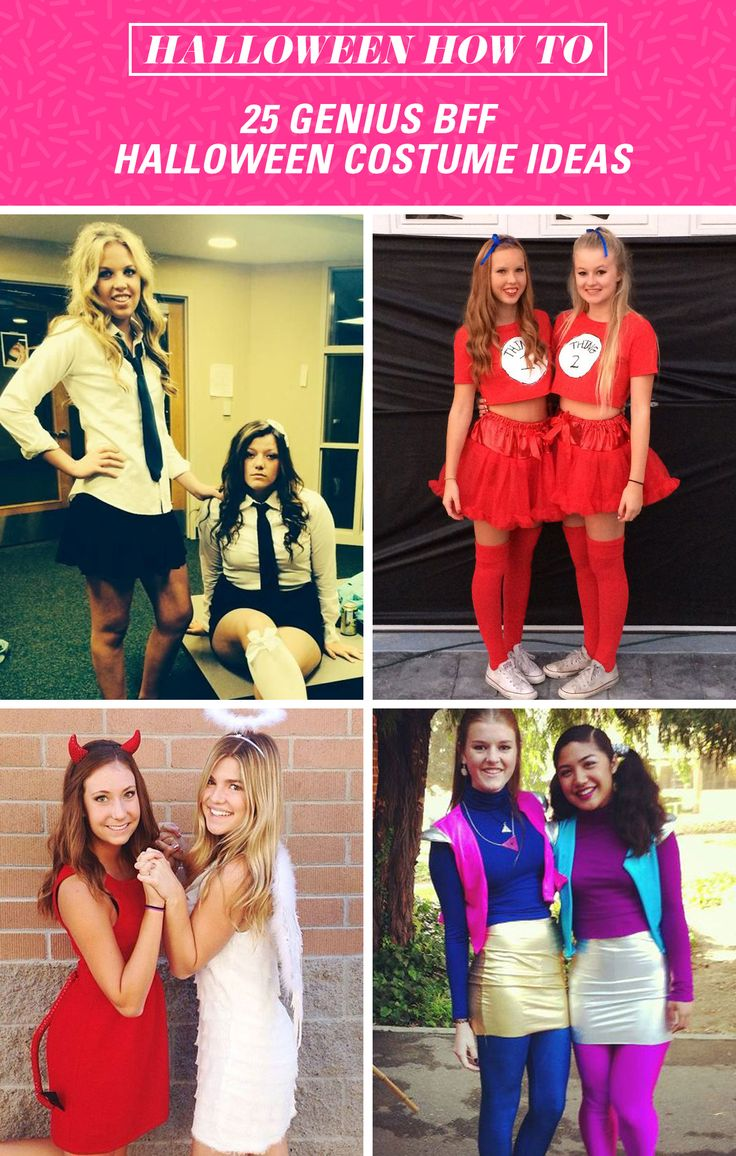 Halloween is so much more fun when you dress up with your bestie! Get creative with these perfect two-person costumes.