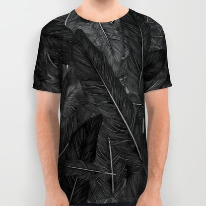 Feathered (Black). All Over Print Shirt