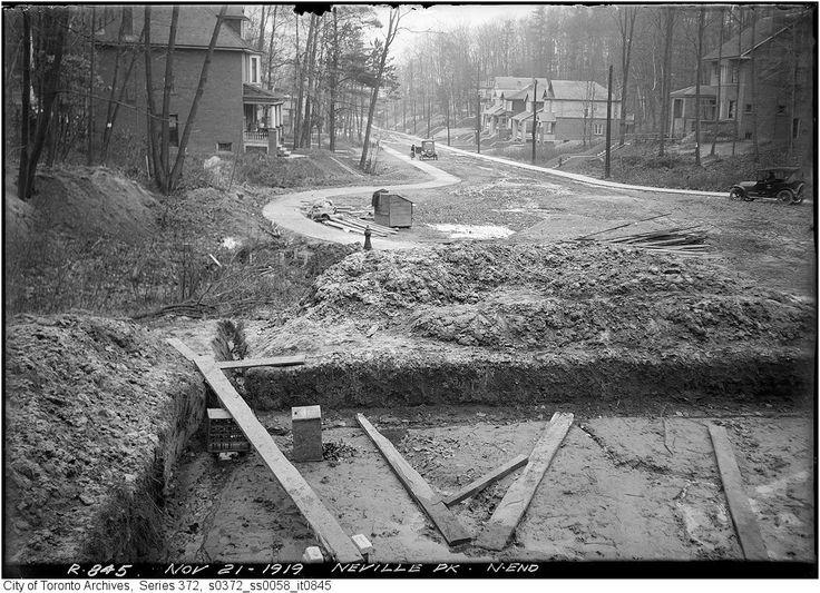 City of Toronto Archives -  Neville Park Blvd. north end - November 21, 1919