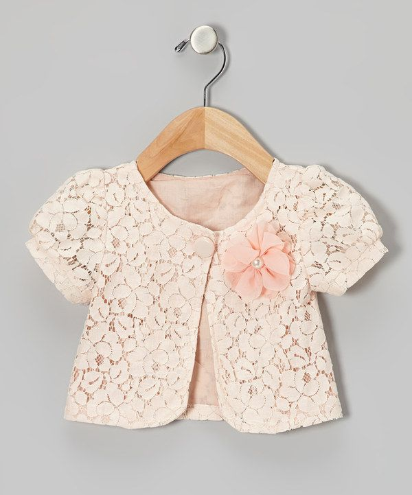 Take a look at this Pink Lace Cap-Sleeve Blazer - Toddler & Girls on zulily today!