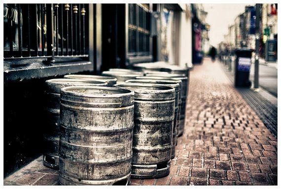 Travel Photography, The Kegs of Cork, Cork Ireland Metallic Photographic Print