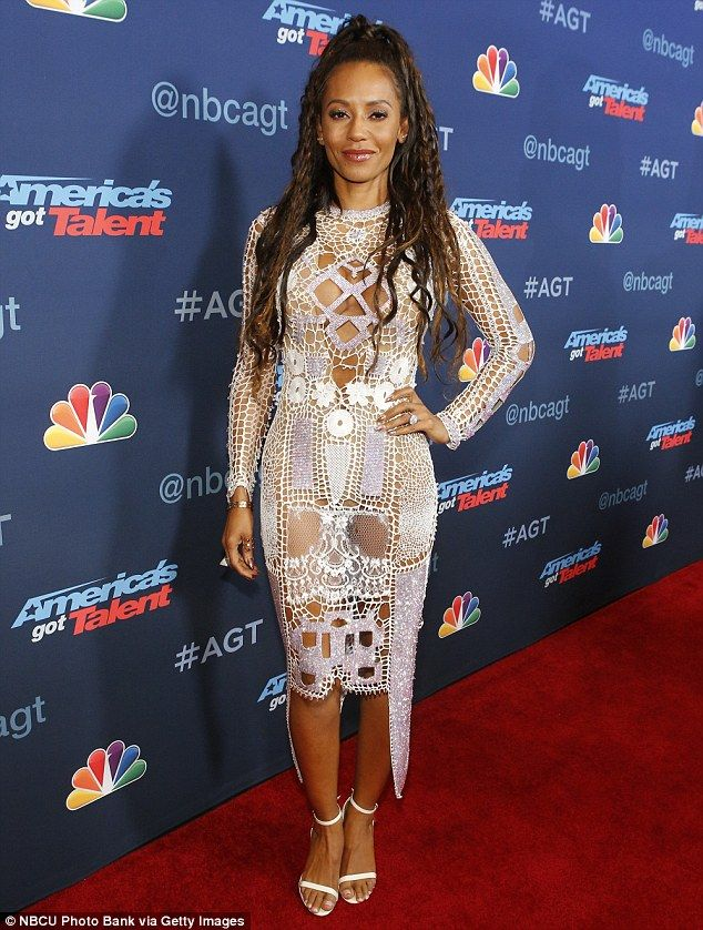 Pushing the limits: Mel B, 41, took a fashion risk when it came to her wardrobe…