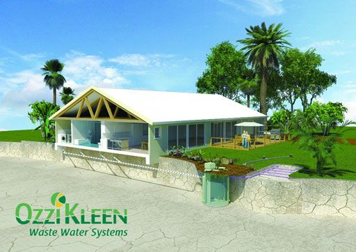 Ozzi Kleen Sewage Treatment System - ATU - non- Septic system