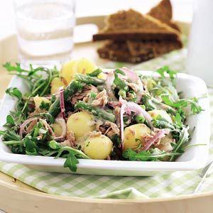 Kijk wat een lekker recept op de test-site van Allerhande! Aardappelsalade met tonijn en sperziebonen