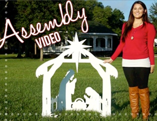 Outdoor Nativity Sets Assembly Videos awesome outdoor nativity!